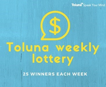 Toluna weekly lottery